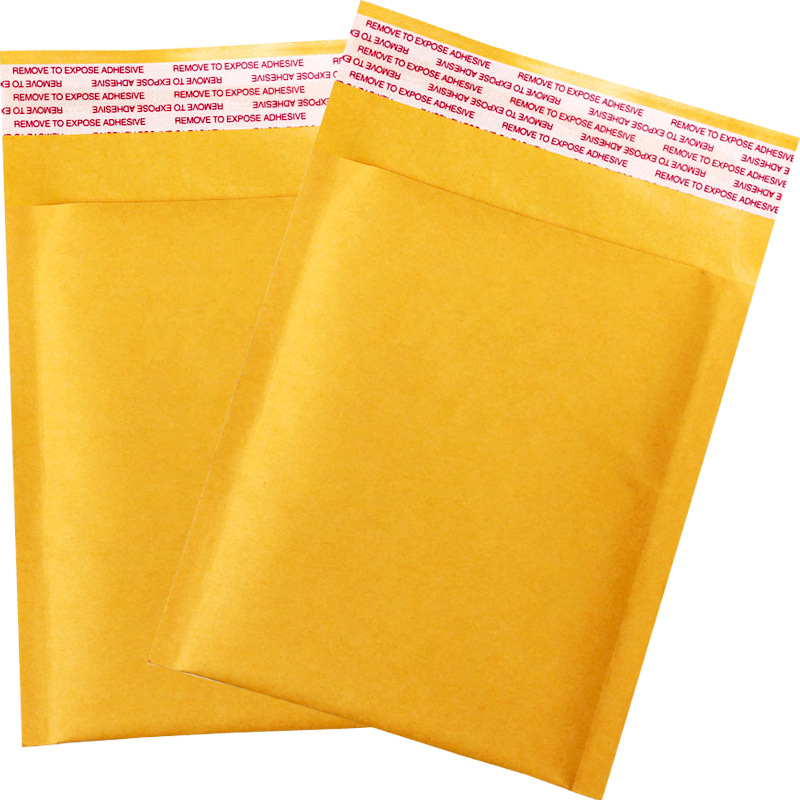 WANGJI 10*11cm Bubble Envelope Envelope Packaging Bag Yellow Kraft Paper Bubble Bag Express Small Co