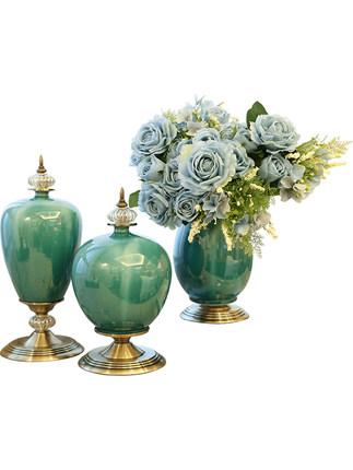 Đồ trang trí bằng gốm sứ Phong cách châu Âu phòng khách hiên nhà bình gốm trang trí nhà Mỹ bàn ăn ho