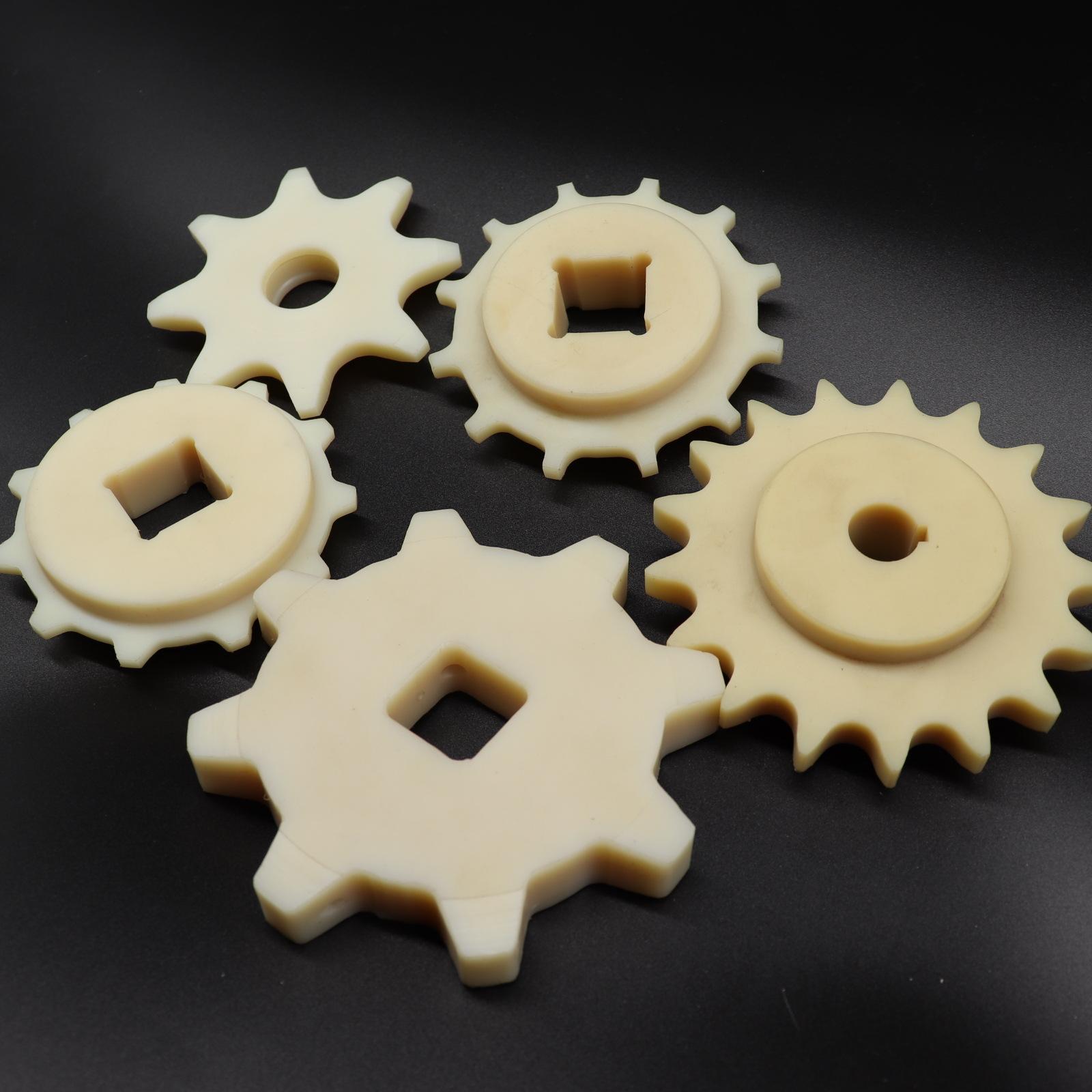 KANGKE Mechanical equipment nylon cylindrical gears, plastic transmission gears, wear-resistant redu
