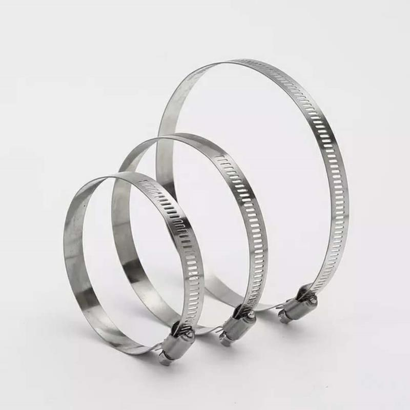HUASHA Stainless steel American style hose clamp 201 304 clamp hoop pipe clamp