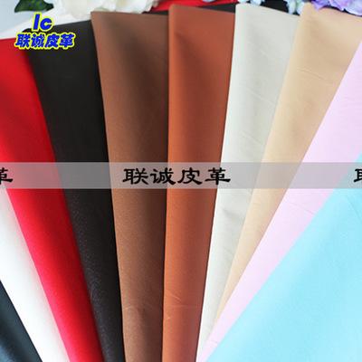 YIKELONG Da heo Nhà máy bán trực tiếp 0,4mm mô hình da heo Chất liệu giày lót pu nhiều màu da vải mề