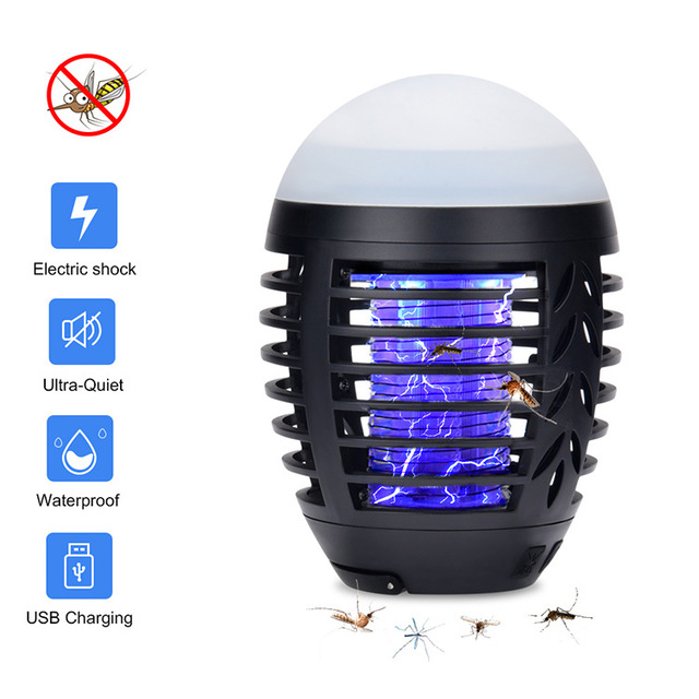 Hailicare Cross-border exclusive supply of waterproof outdoor mosquito killer electric shock ed mosq