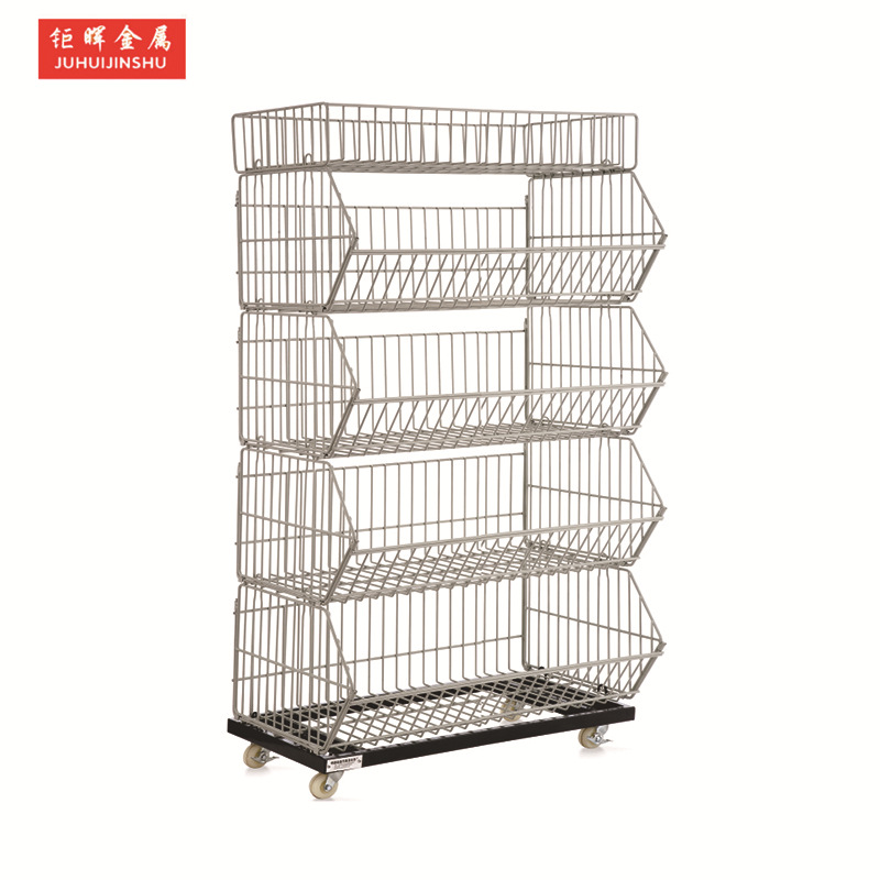 JINGHUISupermarket shelf, convenience store shelf, snack shelf, display shelf, inclined basket, home