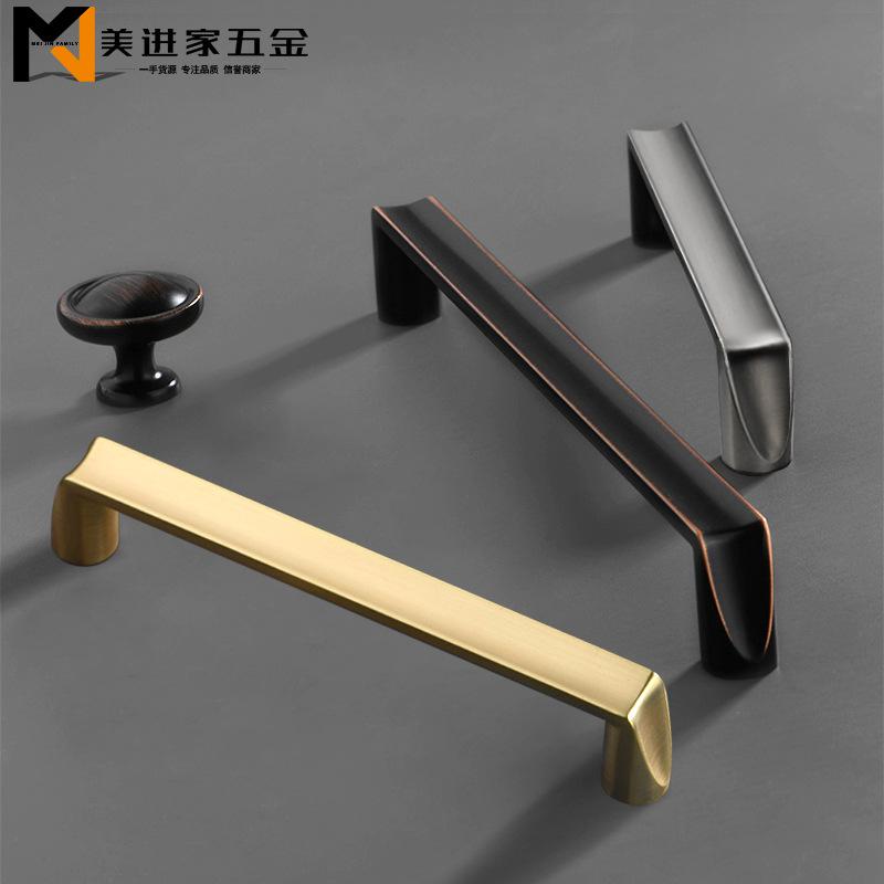 ZHUOYI Nordic Light luxury cabinet door handle American black red ancient cabinet drawer handle cust