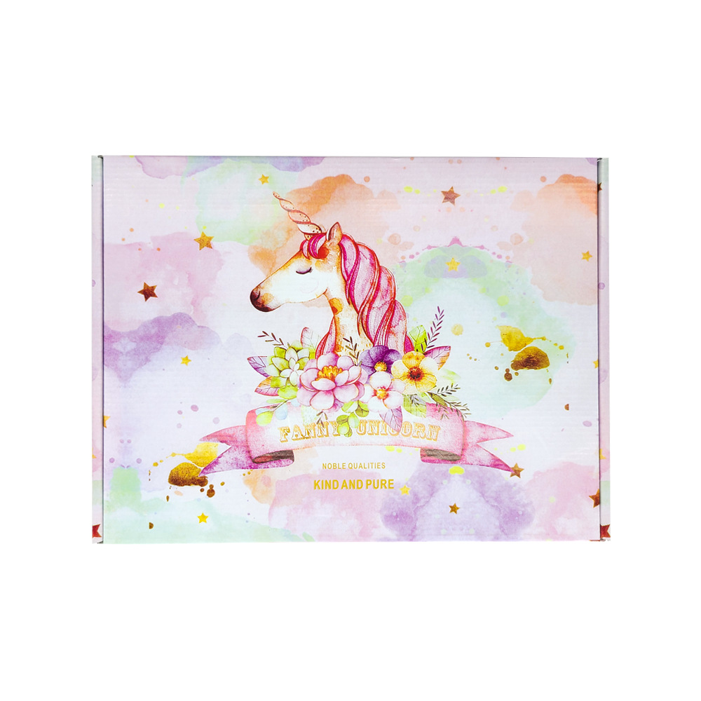 Color Unicorn Airplane Box Spot Customization Special Hard E-commerce Clothing Packaging Box Express