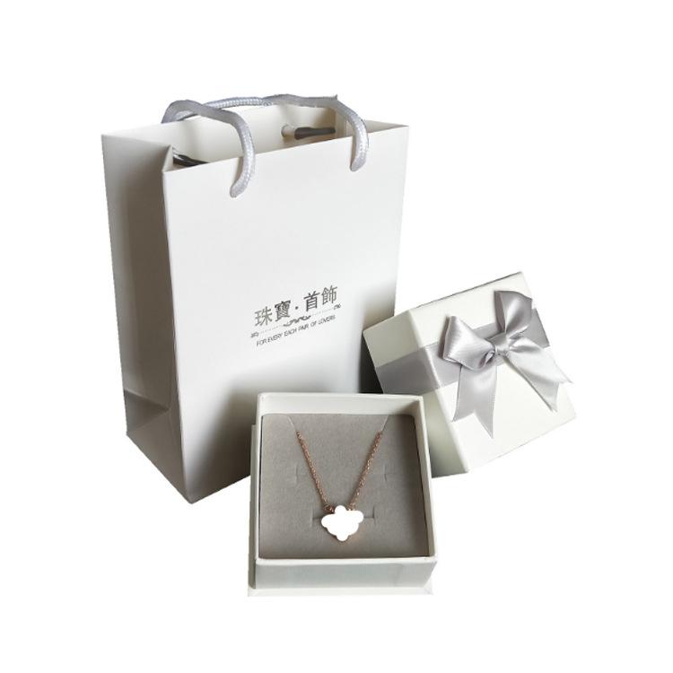 Pink 2 Piece Set Tote Bag Set Decoration Box Square Silver Gift Box
