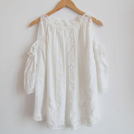 Trang phục bầu Quần áo bà bầu mùa hè áo quây tay ngắn tay áo sơ mi ren bé sơ mi Hàn Quốc size lớn th