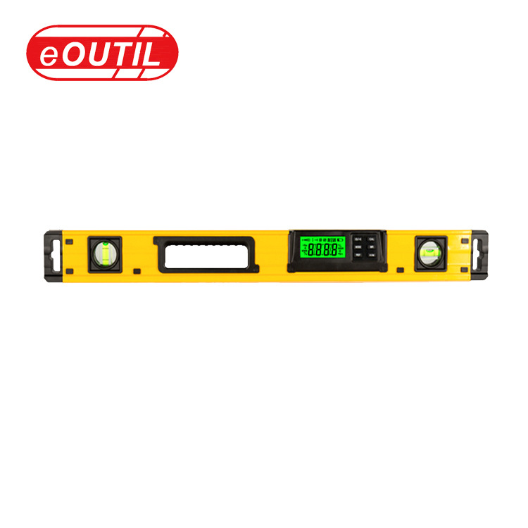 EOUTIL DL405 High-precision blister magnetic spirit level|Aluminum alloy angle measuring angle ruler