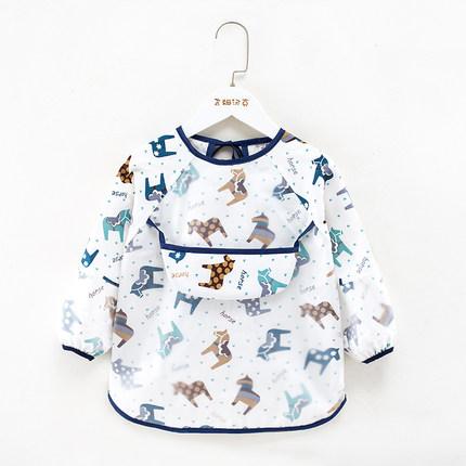 Áo khoác  Yếm trẻ em chống thấm nước yếm dài tay chống mặc cho bé, tạp dề mùa hè cho bé, quần áo chố