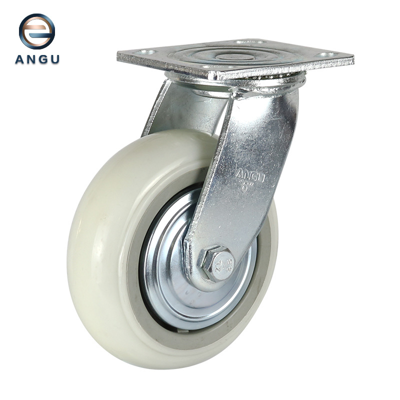 ANGU Factory direct industrial heavy-duty super nylon wheel fixed movable brake dome swivel caster