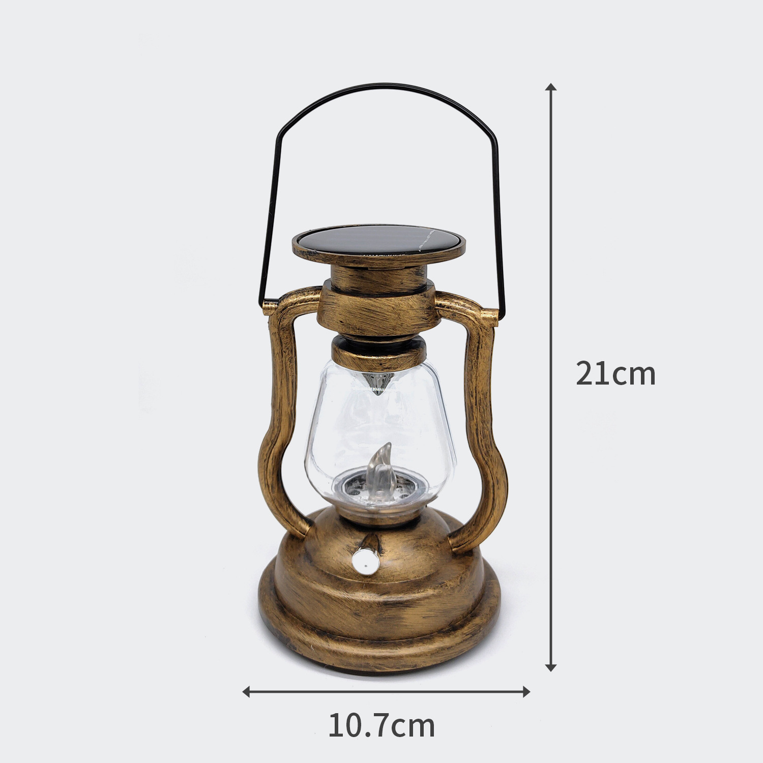 LED solar charger candle light portable tent light outdoor lighting camping retro oil lamp decoratio