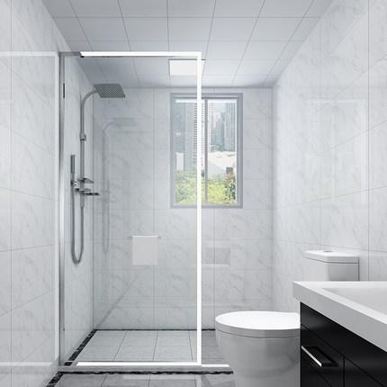 Yulin Bồn đứng tắm phòng tắm vách ngăn phòng tắm hình cửa kính phòng tắm khô và ướt ngăn cách phòng