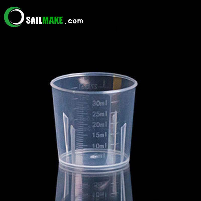 ZHENHAI Factory stock 30ml plastic measuring cup plastic measuring cylinder small measuring cup 30 m
