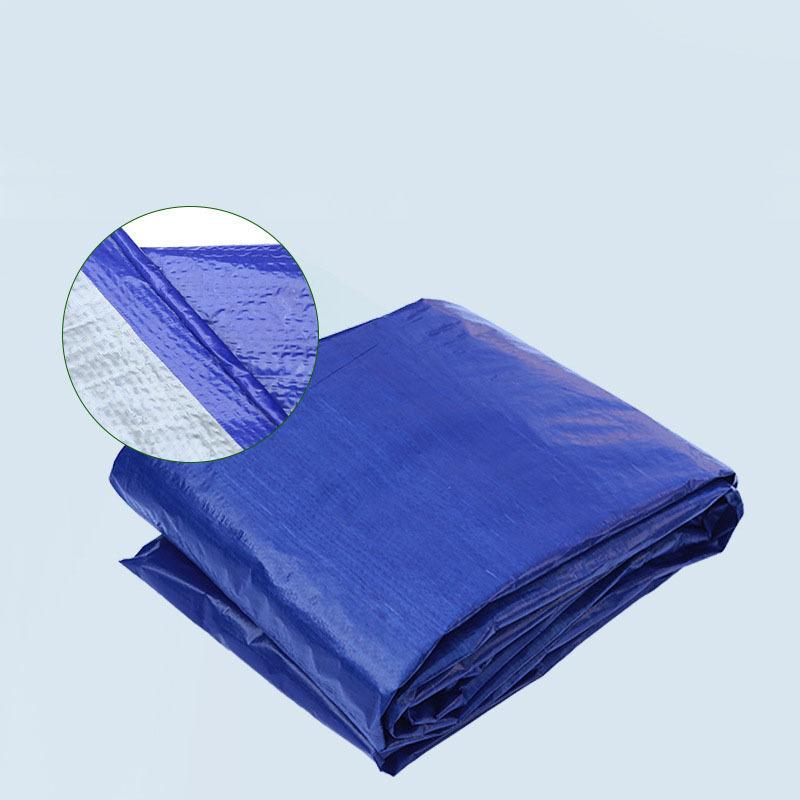 LICHENG Stock blue tarpaulin double membrane PE blue silver tarpaulin plastic tarpaulin sun protecti