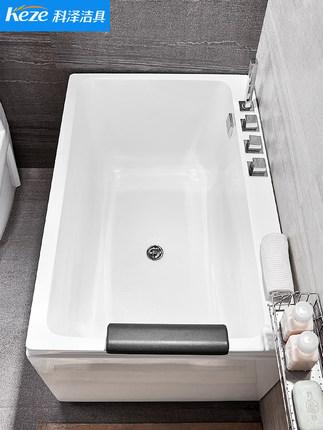 Bồn tắm Acrylic màu trắng hình chữ nhật Koze Gia dụng