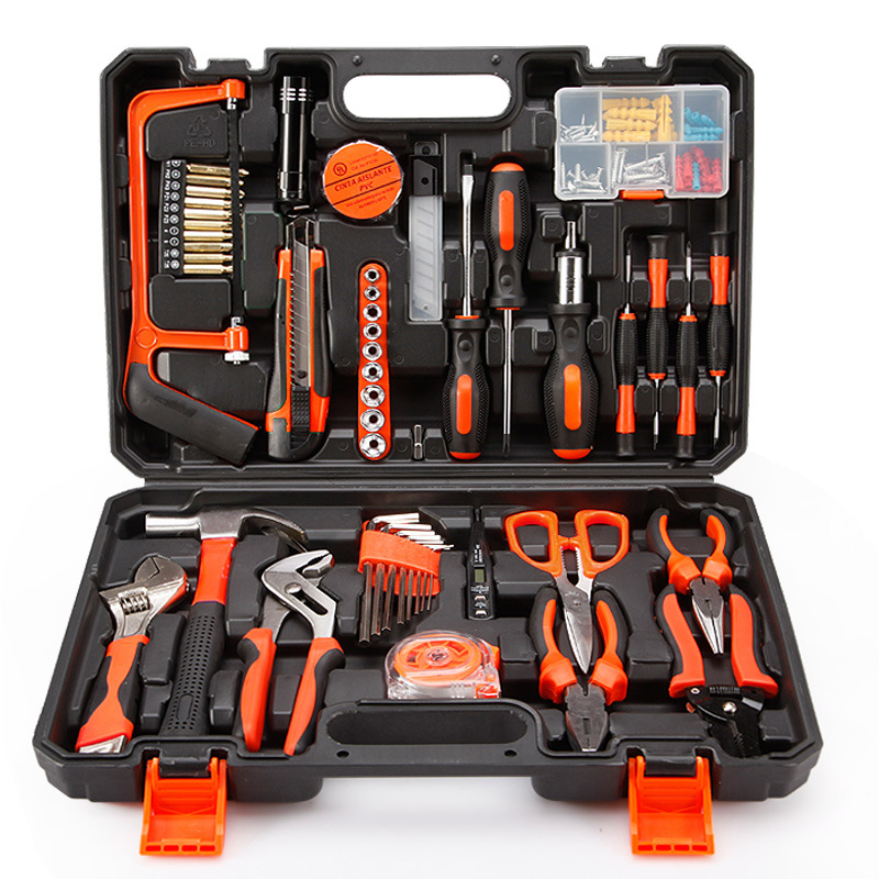 Hardware tool set Combination set Household manual woodworking tool box Power tool gift repair