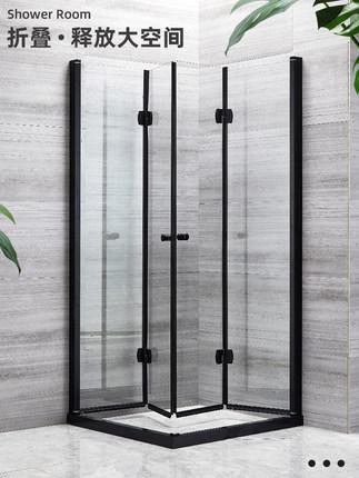 Bồn đứng tắm Phòng tắm nhà vệ sinh cửa kính vách ngăn khô và ướt ngăn cách căn hộ nhỏ phòng tắm phòn