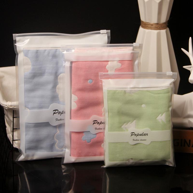 LEMON DEER PE underwear packaging bag swimsuit bag children underwear zipper bag socks towel legging