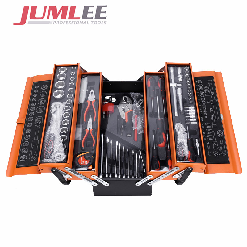 Jumlee 85 piece combination tool combination manual tool box machine repair hardware combination man