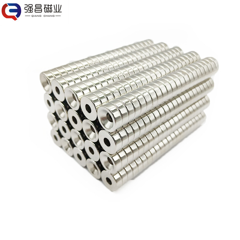 QIANGCHANG 15 * 3-5M screw hole powerful drilling strong magnetic magnet sheet strong round magnet