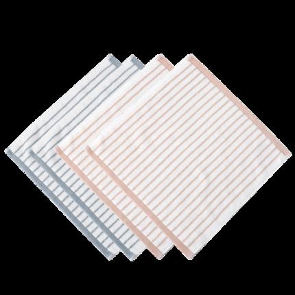 Jieliya  khăn lau tay  4gói khăn vuông khăn nhỏ bông tinh khiết khăn vuông bốn mặt khăn mặt gia dụng