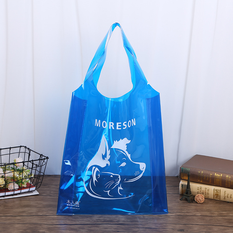 FEIYIN Professional custom pvc bag transparent waterproof portable shopping bag green gift vest plas