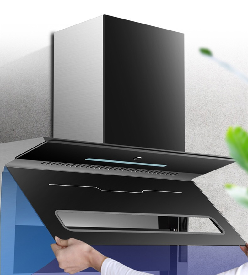 Household range hood automatic cleaning 7-shape range hood kitchen small range hood