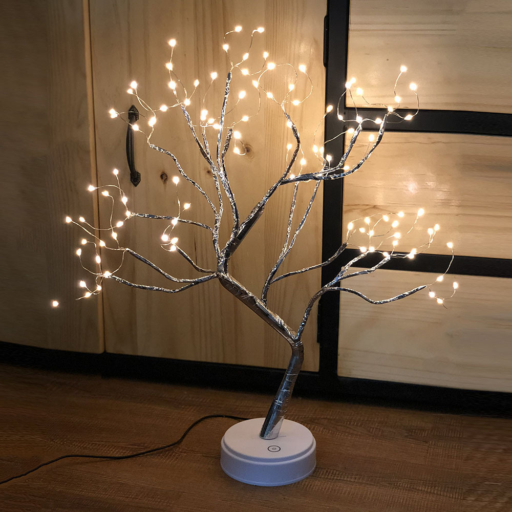 BAZHENG 108 lights simulation LED tree light copper wire light tree light battery USB2 with touch sw