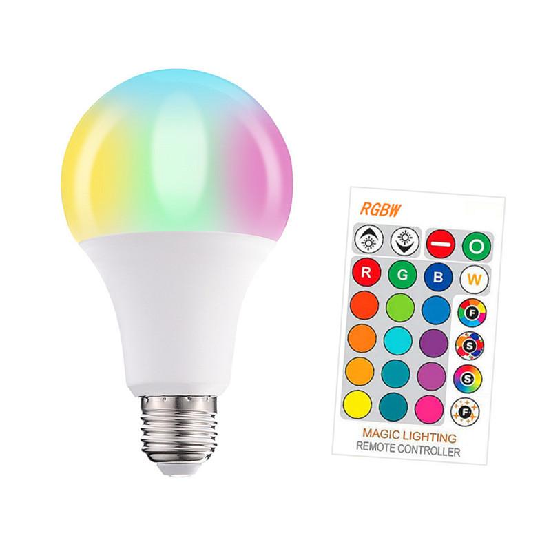 FXPOT led remote control bulb rgbw rgb remote control light dimming bulb light plastic bag aluminum