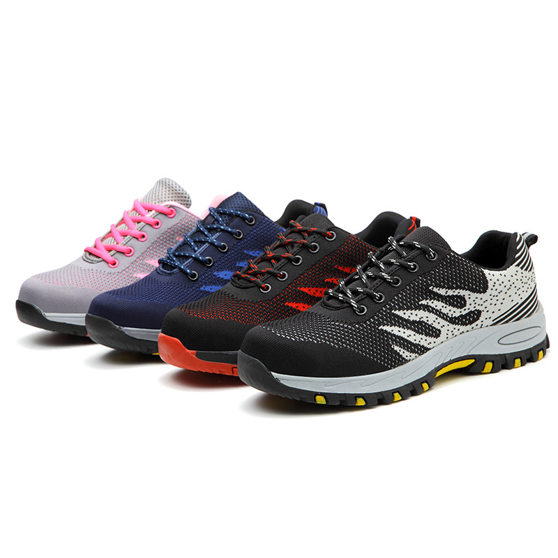 Labor insurance shoes, men's safety protective shoes, anti-smashing, anti-stab, flying woven breath