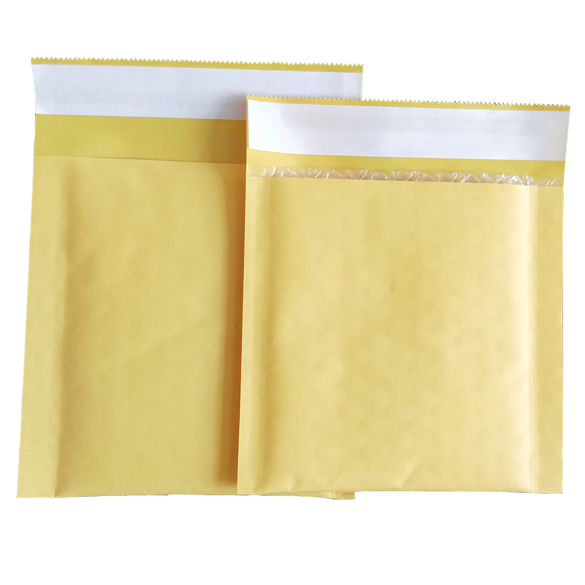HEMING Golden Yellow Kraft Paper Bubble Envelope Bag Foam Shockproof Courier Bag Waterproof Bubble E