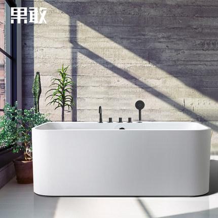 Bồn tắm Hình chữ nhật liền mạch cạnh mỏng dành cho căn hộ .