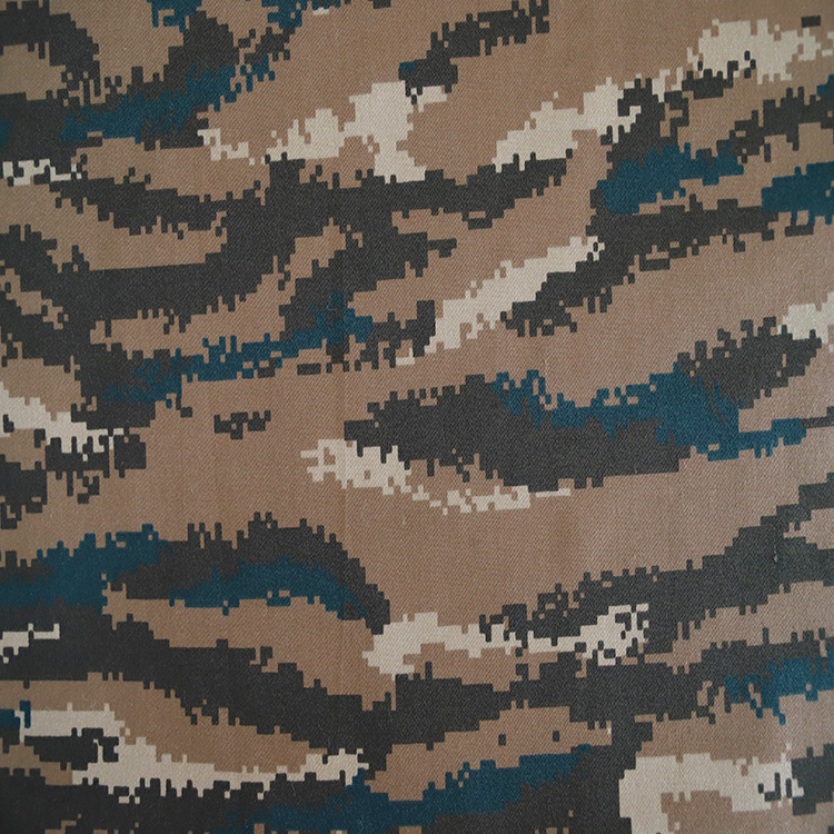 New t / C 16wj tiger spot winter camouflage card fabric