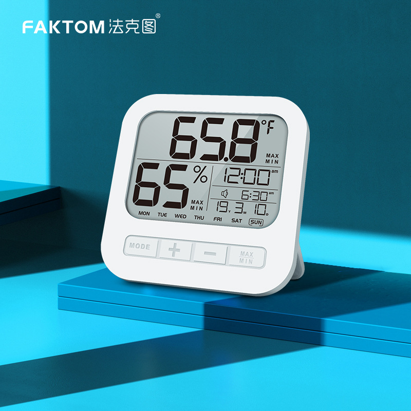 FAKETU Household Thermometer and Hygrometer Multifunctional Children's Wireless Digital Infrared El