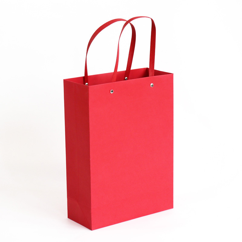20 bags of spot kraft paper bags customized jewelry handbag red clothing bags wedding gift bags