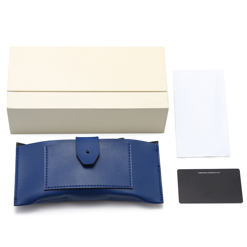 PAILUOTE High-end glasses box set V brand five-piece set, square leather buckle sunglasses box, cust