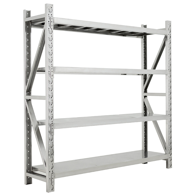 Stainless steel shelf warehouse storage rack medical storage rack basement cold storage room shelf h