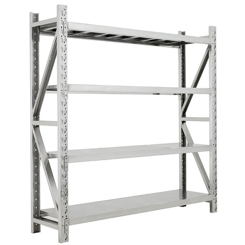 Stainless steel shelf warehouse storage rack medical storage rack basement cold storage room shelf h