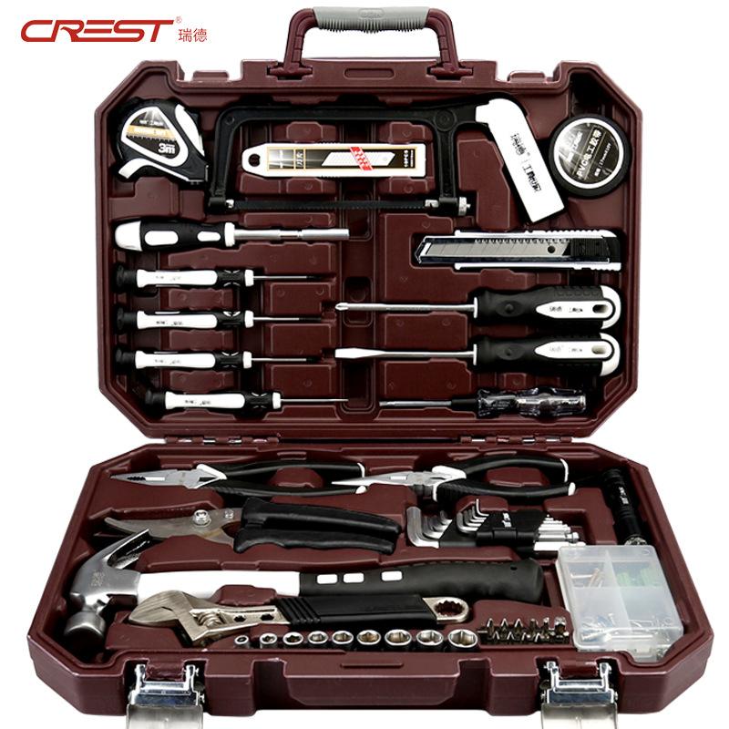 CREST Reid Gift Tool Set Household Hardware Hand Tool Combination Car Repair Kit Tool Box