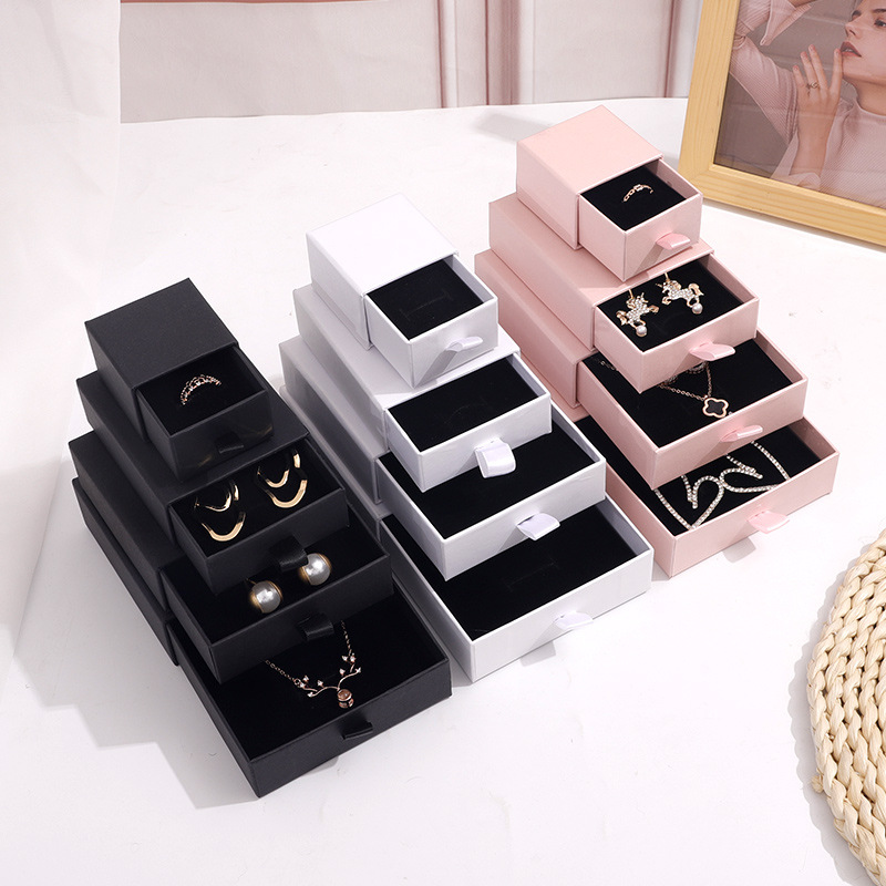 XINDA Drawer Ring Box Jewelry Box Wholesale Bracelet Necklace Packaging Box Earrings