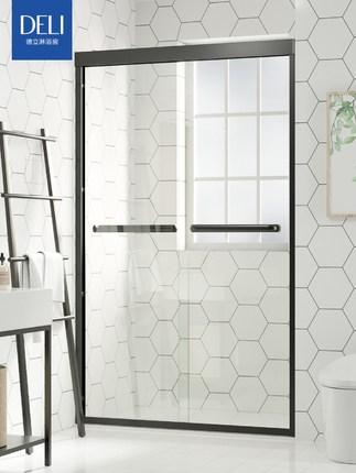 Deli Bồn đứng tắm Phòng tắm Deli phòng tắm ướt và khô ngăn cách bằng thép không gỉ cửa trượt phòng t