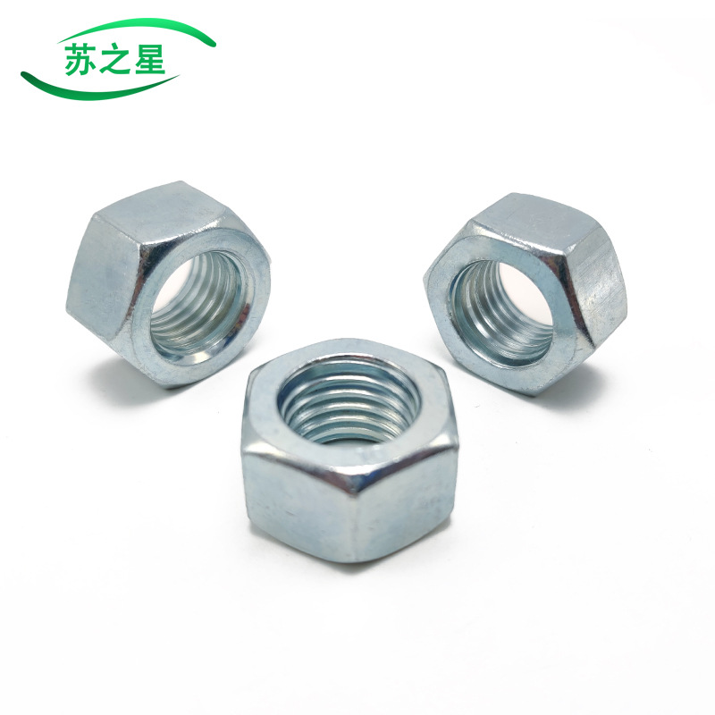 SUZHIXING High-strength grade 8.8 galvanized nut/hex nut M5M6M8M10M12M14M16M18M20--M36