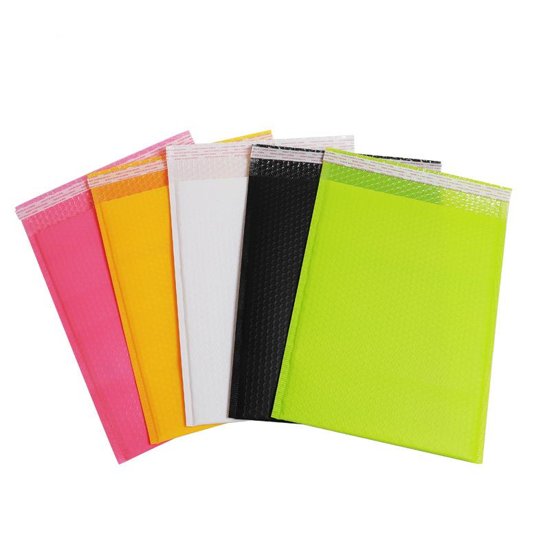 SHUANGCHENG Black matte PE bubble bag co-extrusion film custom express bag logistics packaging bag w