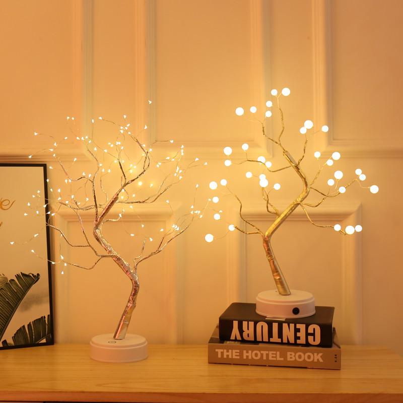 GUANGYI Explosive lantern led copper wire light tree light touch switch pearl starry night light