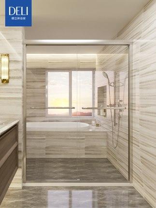 Deli  Bồn đứng tắm Phòng tắm Deli tổng thể đơn giản cửa trượt màn hình kính cường lực phòng tắm phòn
