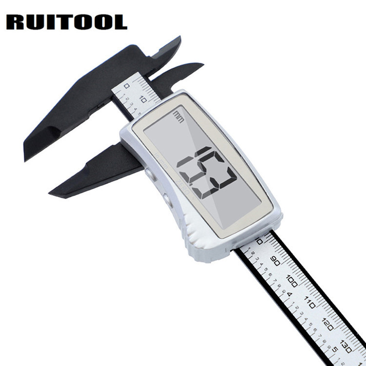 RUITOOL Plastic Digital Caliper 150MM Large Screen Electronic Vernier Caliper Carbon Fiber Metric Sy