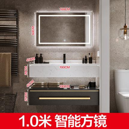 Tủ phòng tắm  Tủ phòng tắm sang trọng nhẹ kết hợp phòng tắm đơn giản hiện đại chậu rửa bằng đá cẩm t