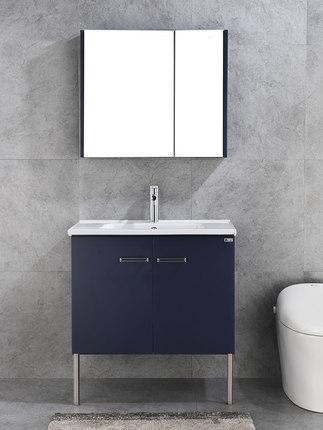Dongpeng Tủ phòng tắm Dongpeng phòng tắm hiện đại phong cách Bắc Âu phòng tắm bằng gỗ rắn chậu rửa t