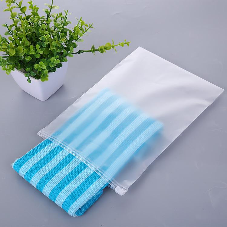 WEIYAO Frosted transparent zipper bag, panties and socks packaging bag, clothing zipper bag, pe zipl