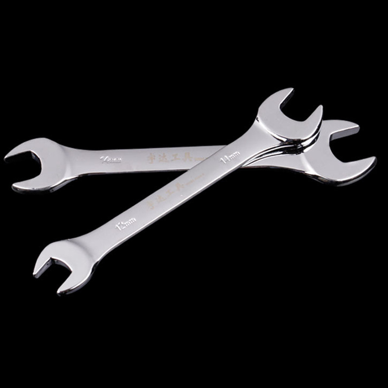 YUDA Factory wholesale 45 ᦇ steel open-end wrench hardware double head manual multi-purpose wrench h